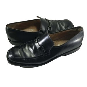 Salvatore Ferragamo Leather Horse Bit Loafers